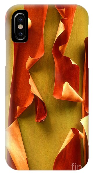 IPhone Case featuring the photograph Peeling Bark Pacific Madrone Tree Washington by Dave Welling