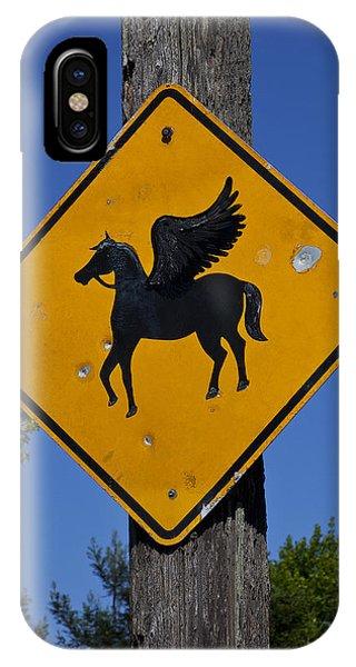 Pegasus Road Sign IPhone Case