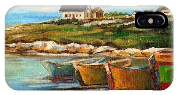 Peggys Cove With Fishing Boats IPhone Case