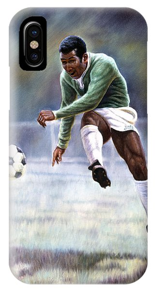 Soccer iPhone Case - Pele by Gregory Perillo