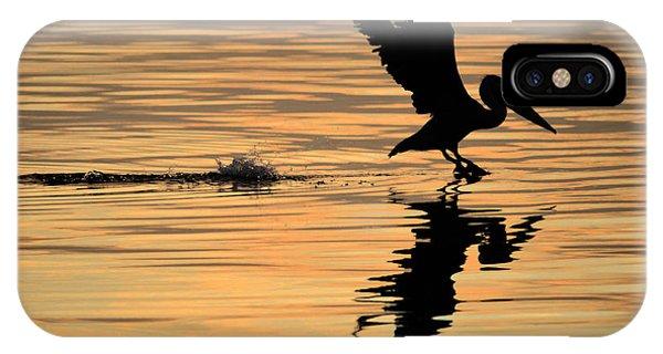 Pelican At Sunrise IPhone Case