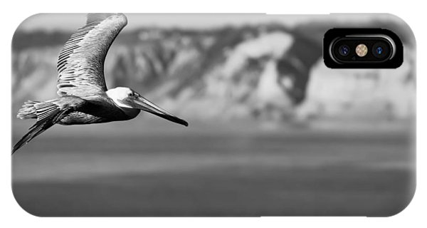 Pelican In Black And White IPhone Case