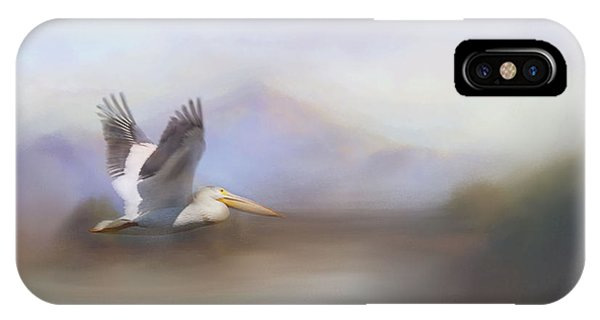 Pelican In Flight  IPhone Case