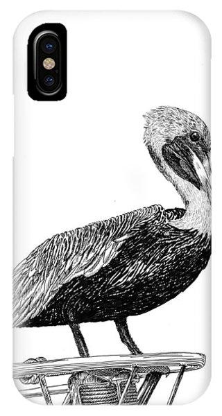 Monterey Pelican Pooping IPhone Case