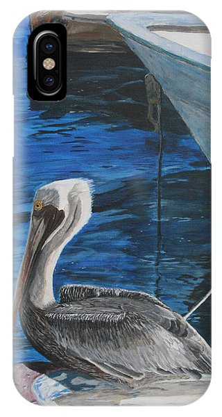 Pelican On A Boat IPhone Case