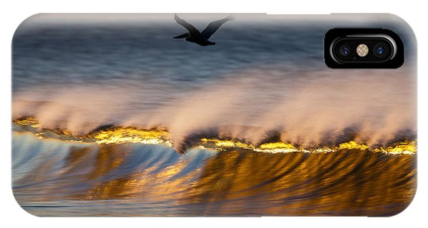 Pelican Over Wave  C6j9351 IPhone Case