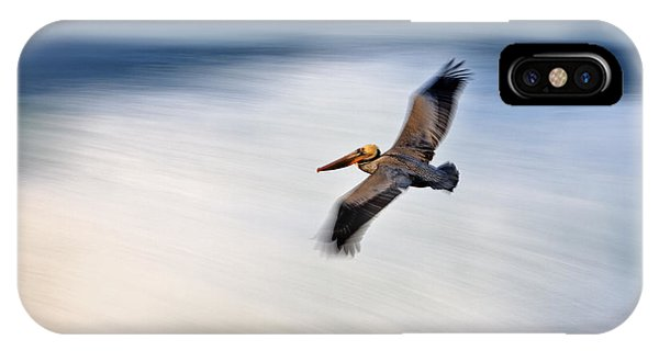 Pelican Over Wave  Mg_1212 IPhone Case