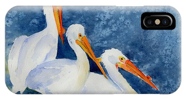 Pelicans At The Weir IPhone Case