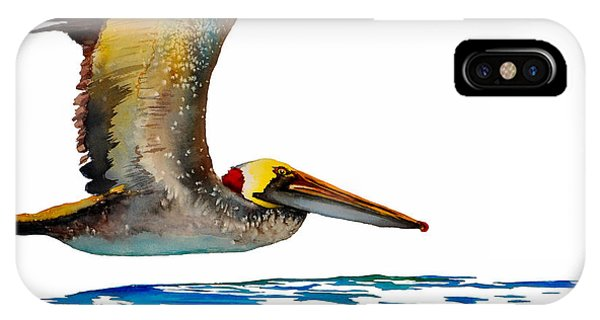 Da137 Pelican Over Water By Daniel Adams IPhone Case