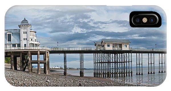 Penarth Pier Panorama 1 IPhone Case
