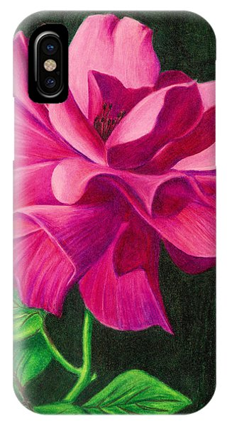 Pencil Rose IPhone Case