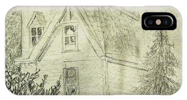 Pencil Sketch Of Old House IPhone Case