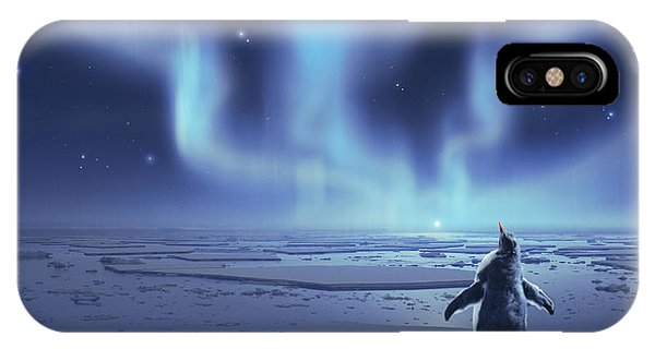 Cassiopeiaart iPhone Case - Penguin Dreams by Cassiopeia Art