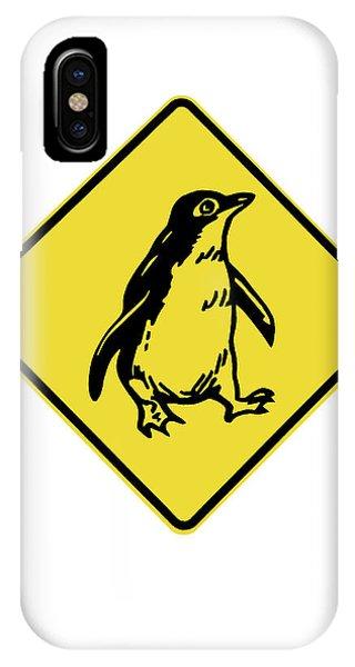 Cutout iPhone Case - Penguin Warning Sign, Australia by David Wall