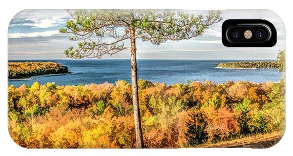 Peninsula State Park Scenic Overlook Panorama IPhone Case