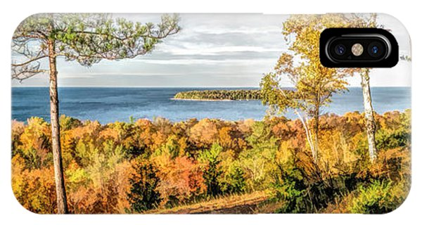 Peninsula State Park Scenic Overlook Panorama IPhone Case