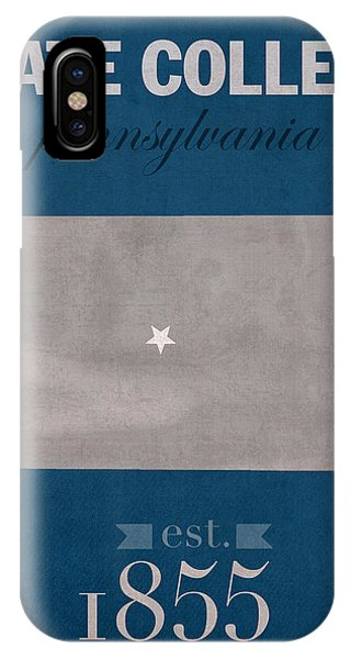 Penn State University Nittany Lions State College Pa College Town State Map Poster Series No 088 IPhone Case