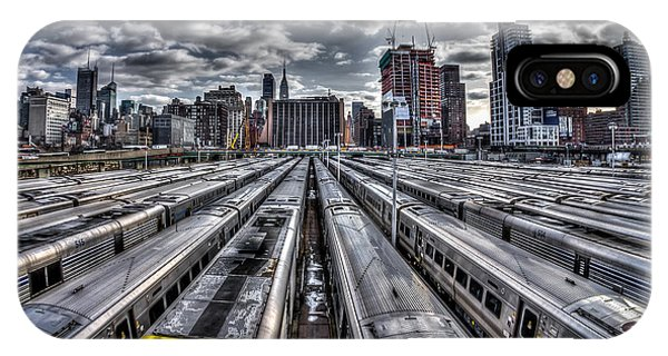 Penn Station Train Yard IPhone Case