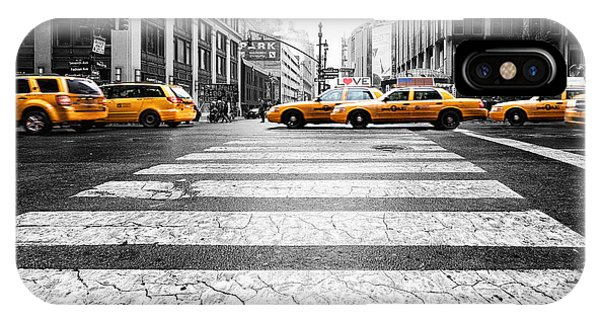 Penn Station Yellow Taxi IPhone Case