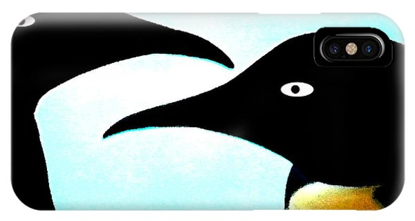 IPhone Case featuring the painting Penquin Love by Colette V Hera  Guggenheim