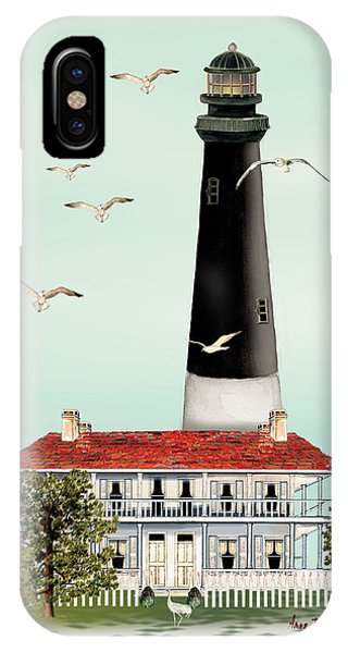 Pensacola Light House IPhone Case