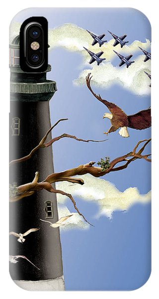 Pensacola Light House Tower IPhone Case