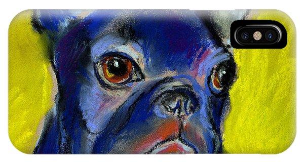 French Artist iPhone Case - Pensive French Bulldog Portrait by Svetlana Novikova