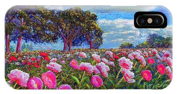 Peaceful iPhone Case - Peony Heaven by Jane Small