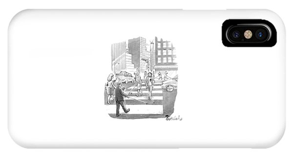 People Are Crossing The Street Looking IPhone Case