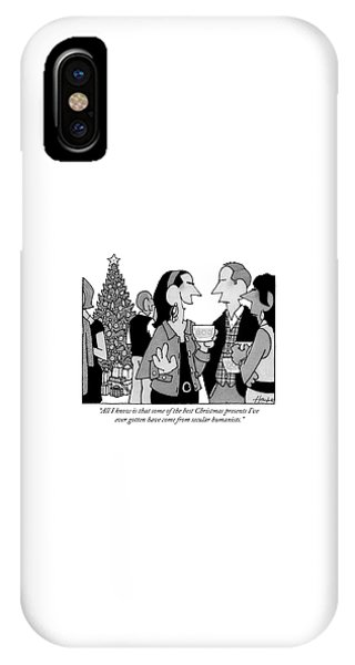 People Converse At A Cocktail Party IPhone Case