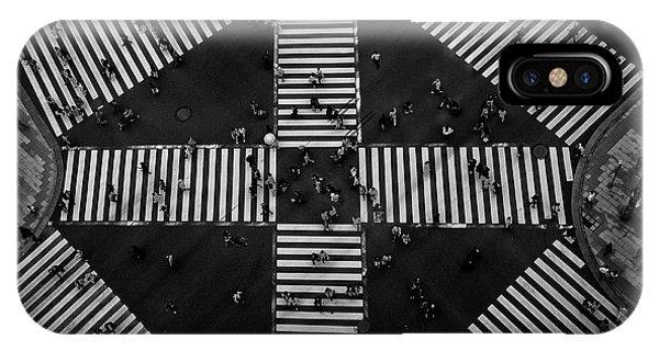 People Crossing Phone Case by Koji Tajima