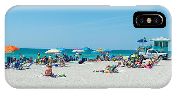 People On The Beach, Venice Beach, Gulf IPhone Case