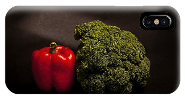 Broccoli iPhone Case - Pepper Nd Brocoli by Peter Tellone