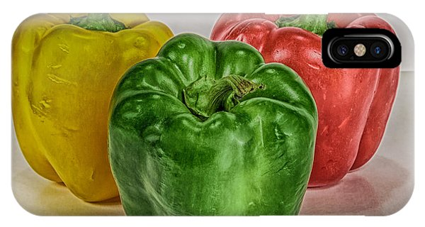 Peppers Together Hdr Phone Case by Mitch Johanson