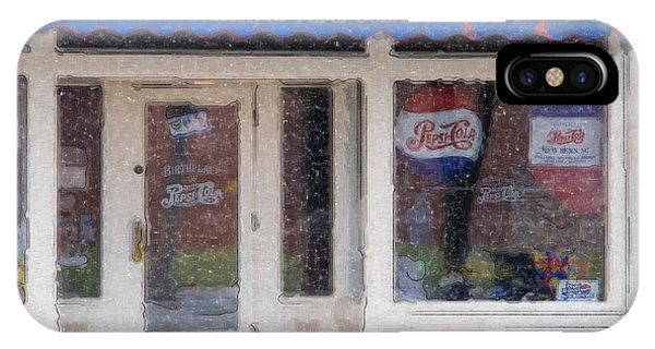 Pepsi Cola Birthplace Watercolor IPhone Case
