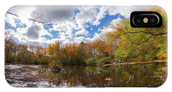 Pequotsepos Duck Pond Reflection   IPhone Case