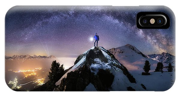 Night iPhone Case - Per Aspera Ad Astra by Dr. Nicholas Roemmelt