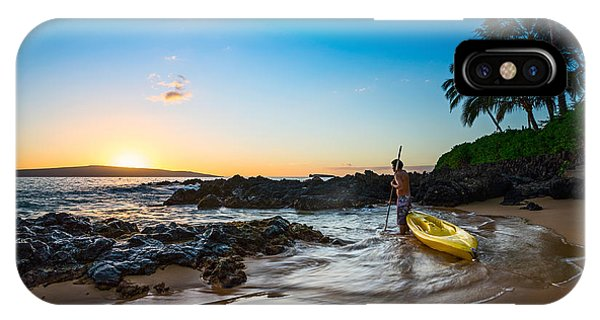 Water iPhone Case - Perfect Ending - Beautiful And Secluded Secret Beach In Maui by Jamie Pham