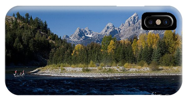 Perfect Spot For Fishing With Grand Teton Vista IPhone Case