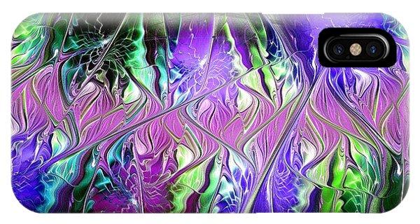 Violet Flame iPhone Case - Permanent Liminality by Anastasiya Malakhova