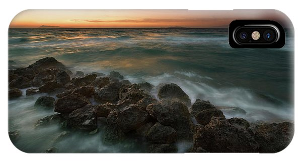 Shore iPhone Case - Peroulades... by Krzysztof Browko