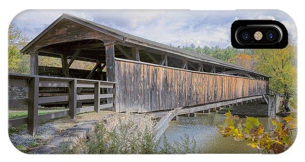 Covered Bridge iPhone Case - Perrine's Covered Bridge by Joan Carroll