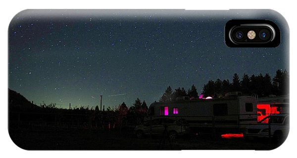 Perseid Meteor-julian Night Lights IPhone Case