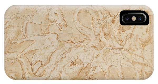Perseus Rescuing Andromeda Red Chalk On Paper IPhone Case