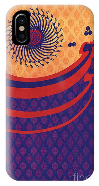 Red Heart iPhone Case - Persian Caligraphy by Sassan Filsoof