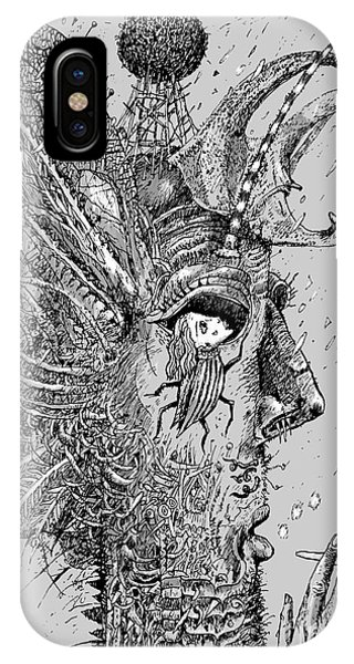 Person Insect. Smoker. Surrealistic Phone Case by Alex74