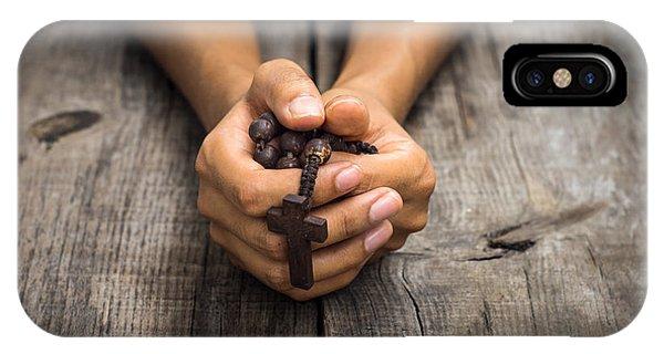 Person Praying IPhone Case