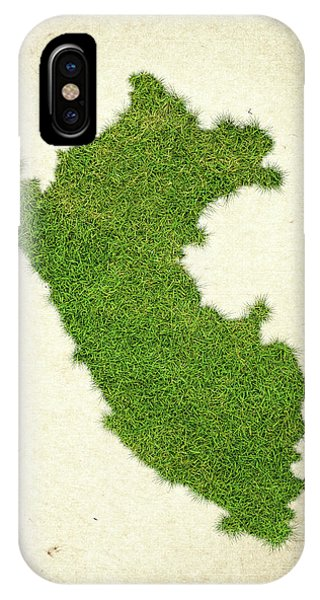 Peru iPhone Case - Peru Grass Map by Aged Pixel