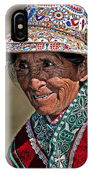 Peruvian Old Lady Phone Case by Walter Iglesias