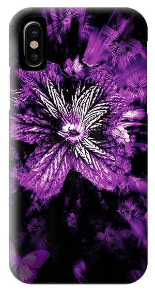 Petals From The Purple IPhone Case